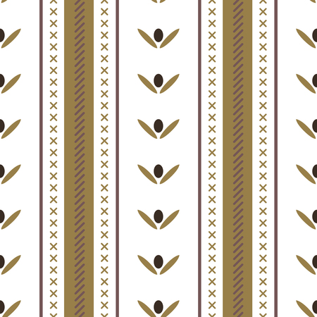 Vector seamless abstract tribal pattern.