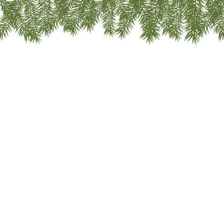 christmas tree border christmas tree branches realistic fir tree border vector pine - Christmas Tree Branches