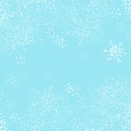 Vector Christmas background with white snowflakes. Illustration