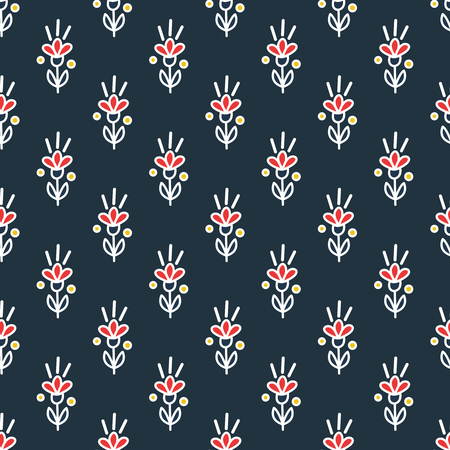 Motif de fleur transparente de vecteur. Motif floral de vecteur. Vecteurs