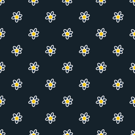 Vector seamless flower pattern. Vector floral pattern.