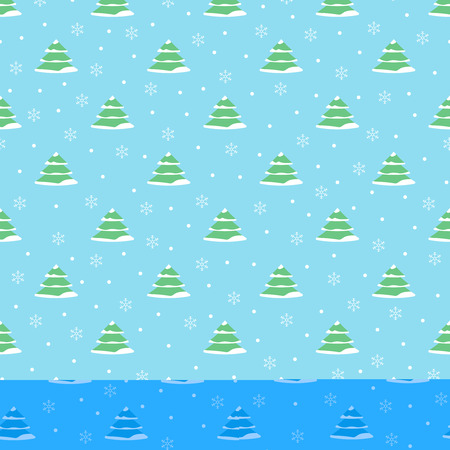 Vector colorful Christmas seamless pattern. Seamless pattern wit Illustration