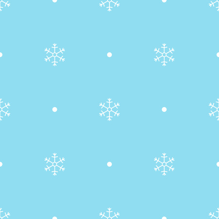 Vector seamless pattern of snowflakes. Snowflake seamless pattern.