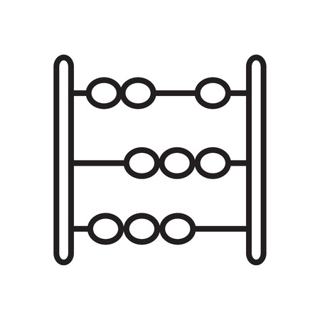 Vector outline icon of abacus, Toy abacus. Illustration