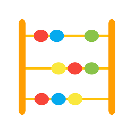 Vector icon of abacus. Vector toy abacus. Illustration