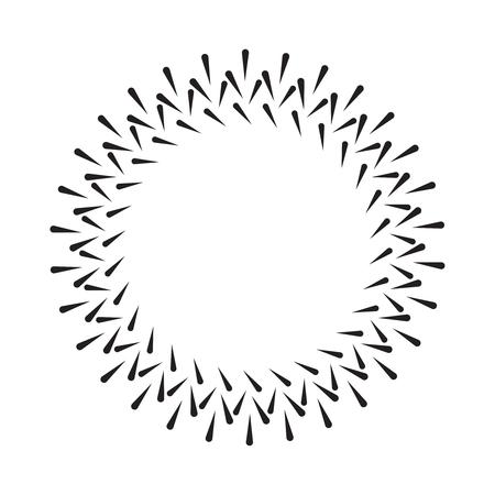 Vector sunburst circle. Sunburst frame. Burst shape.