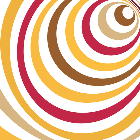 Vector colorful ellipses background. Abstract torsion illusion background. Illustration
