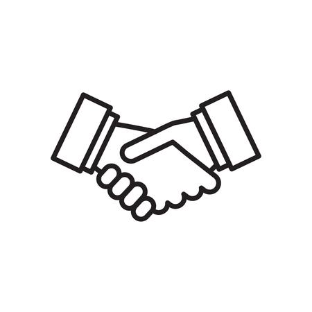 Icono de apretón de manos de vector. Icono de asociación y acuerdo. Ilustración de vector