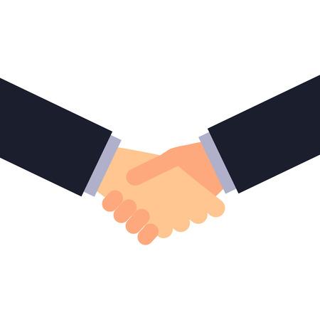 Vector handshake illustration. Business concept. Partnership and agreement illustration.