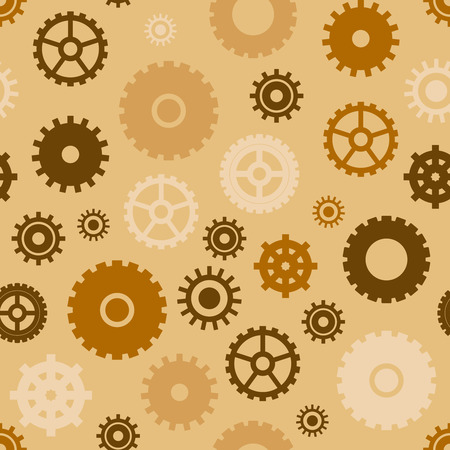 Vector seamless pattern with different gears. Gears background. Vectores