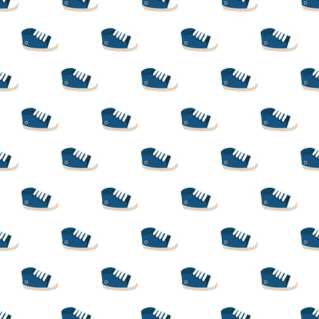 Vector seamless pattern of  baby sneakers.