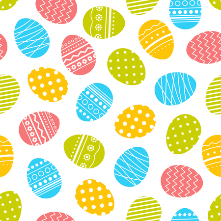 Vector seamless pattern with colorful Easter eggs.