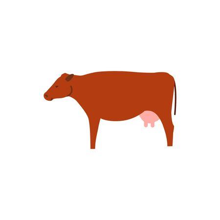 Vector illustration of cow. Animal vector illustration.