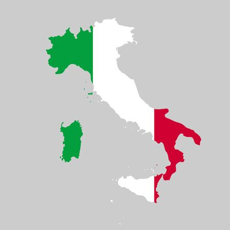 Vector illustration of Italy flag map. Vector map. Ilustrace