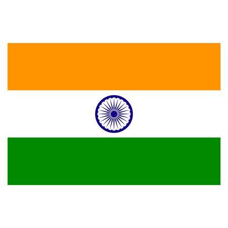 Vector India flag. National India flag illustration.
