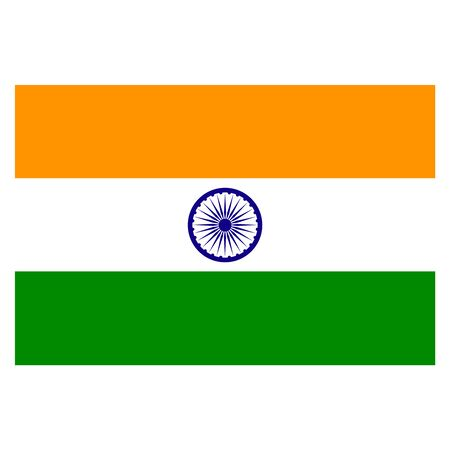 Vector India flag. National India flag illustration. Vector map.