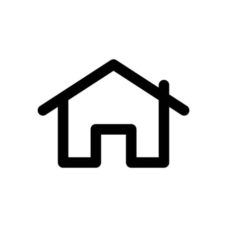 Vector simple home icon. Vector house symbol.