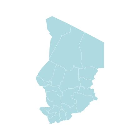Vector illustration of administrative division map of Chad. Vector map. 일러스트