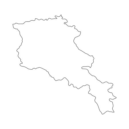 Vector illustration of outline Armenia map. Vector map.