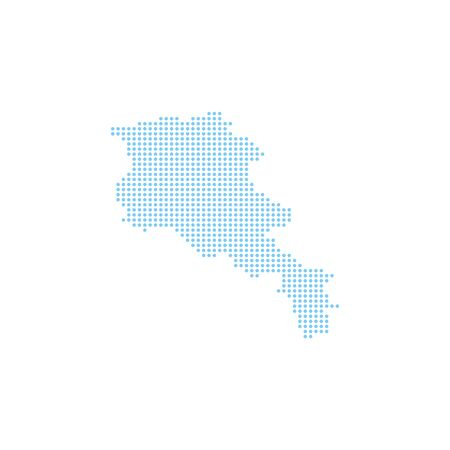 Vector illustration of dotted Armenia map. Vector map..