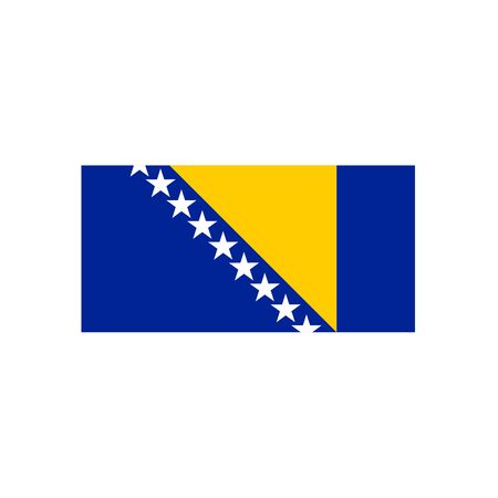 Vector Bosnia and Herzegovina flag. National Bosnia and Herzegovina flag. Illustration