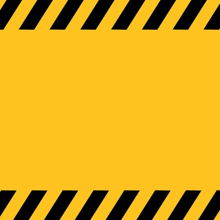 Vector black and yellow caution tape background.. Illustration