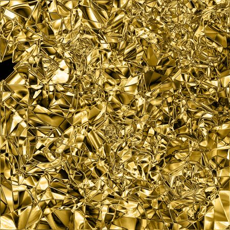 Gold foil background. Metallic shiny gold background. Gold texture.