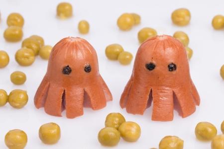 Octopus de saucisses Banque d'images - 25358674