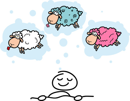cartoon sheep and sweet sleeping  Vector