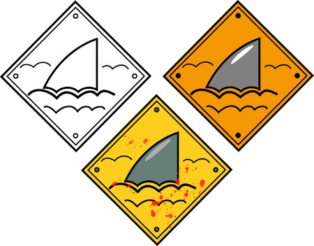 Shark sighting sign Vector