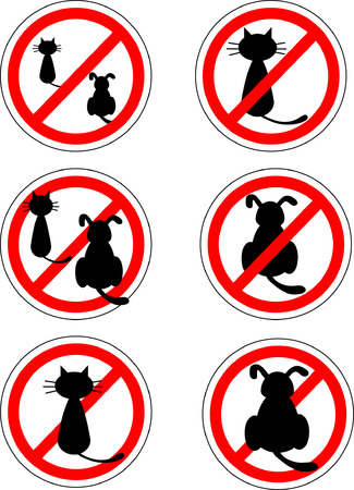 Sign no cats and dog Vector