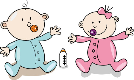 Creative design of cartoon baby  Vector