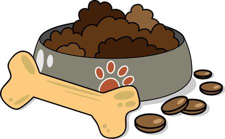 comida perro: Comida para perros Vectores