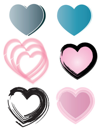 Creative design of heart Illustration