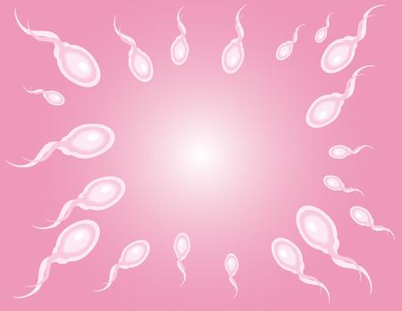 Creative design of sperm   Illustration