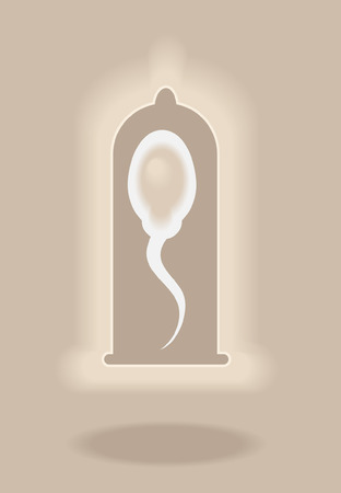 Sperm and condom  Vector