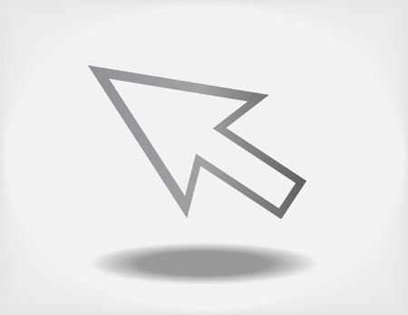 pointer stick: Design creativo di cursore completamente vettoriale modificabile Vettoriali