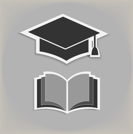 birrete de graduacion: Libro abierto