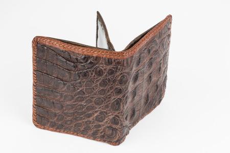 Hand made purse from alligator skin  photo