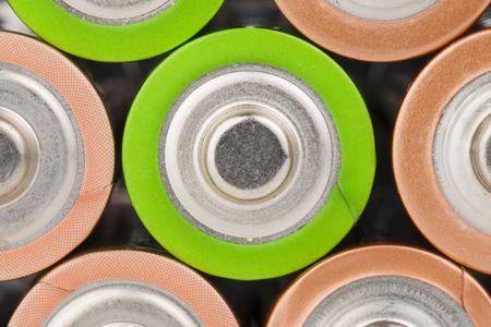 aa: Lying AA Batteries - Stock Image macro  Stock Photo