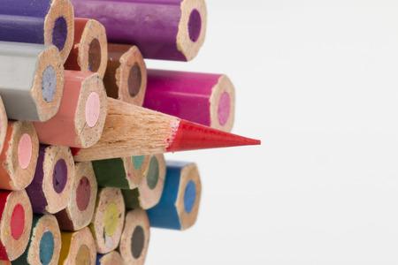 Colored Pencils - Stock Image macro  Stock Photo
