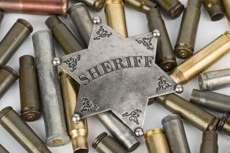 sheriff badge: Divisa del sheriff Foto de archivo