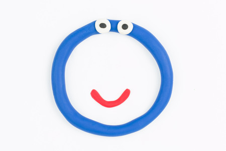Plasticine circle  Stock Photo