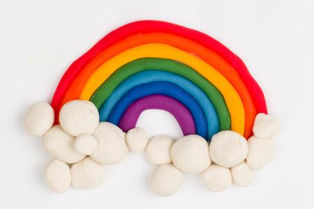 Plasticine rainbow  Banque d'images
