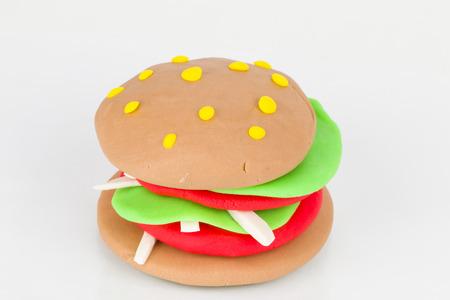 Plasticine  hamburger