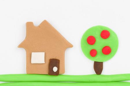 child s block: Plasticine  house