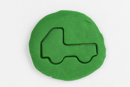 Plasticine  car  Stock Photo