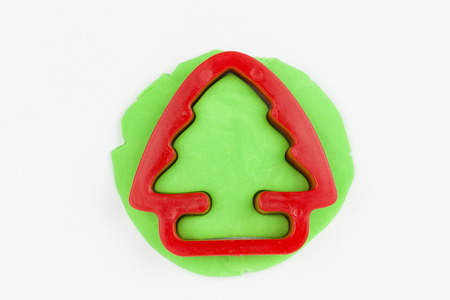 Plasticine christmas tree