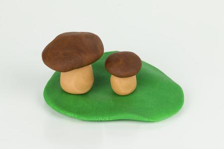 plasticine: Plasticine Mushroom  Stock Photo