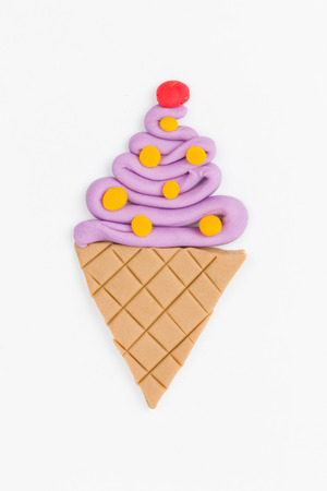 Ice cream  from children bright plasticine